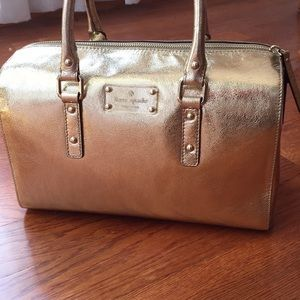 Authentic Kate Spade Gold Flicker Satchel